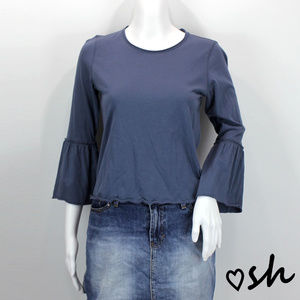 Abercrombie & Fitch Blue Bell Sleeve Tee - Small